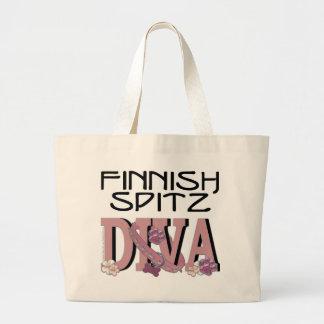 Finnish Spitz DIVA Jumbo Tote Bag