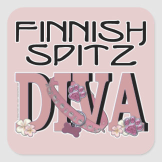 Finnish Spitz DIVA Square Sticker
