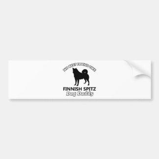 Finnish Spitz Dog Daddy Bumper Stickers