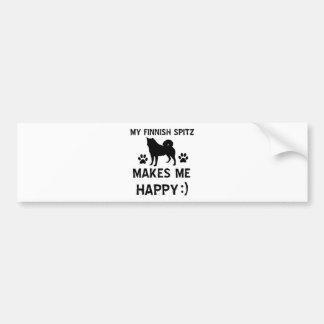 Finnish Spitz dog designs Bumper Stickers