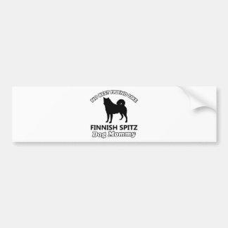 Finnish Spitz dog designs Bumper Sticker