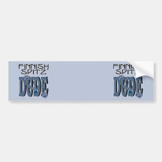 Finnish Spitz DUDE Bumper Sticker