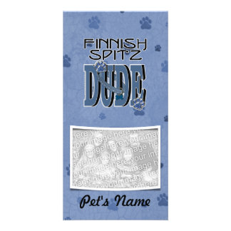 Finnish Spitz DUDE Personalized Photo Card