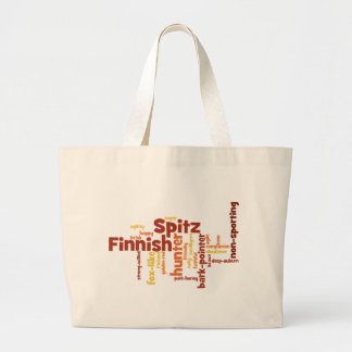 Finnish Spitz Large Tote Bag