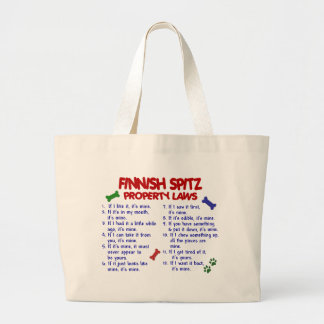 FINNISH SPITZ Property Laws 2 Canvas Bag