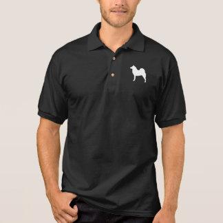 Finnish Spitz Silhouette Polo Shirt