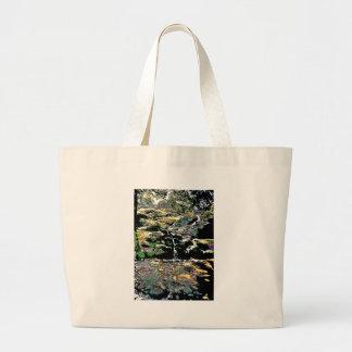 Finnish stream in Autumn Large Tote Bag