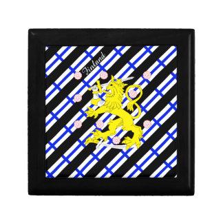 Finnish stripes flag jewelry box