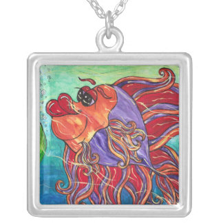 Finny the Fighting Fish Necklace