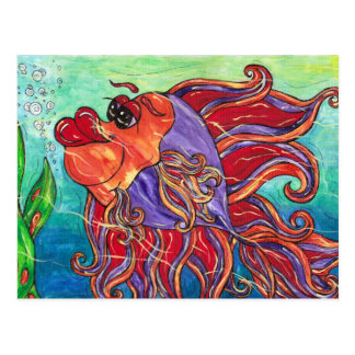 Finny the Fighting Fish Postcard