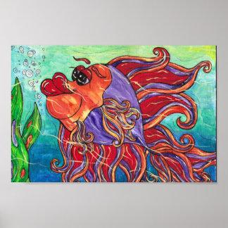 Finny the Fighting Fish Print