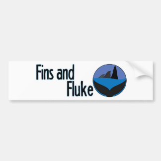 Fins and Fluke Bumper Sticker