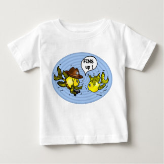 FINS UP! hilarious funny hands up cute cartoon Baby T-Shirt