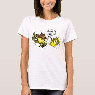 FINS UP! hilarious funny hands up cute cartoon T-Shirt