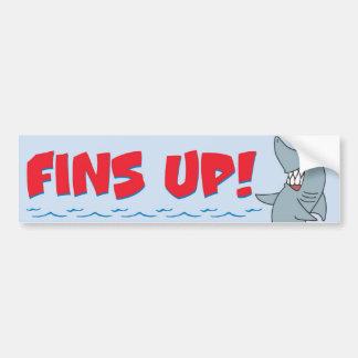 Fins Up sticker