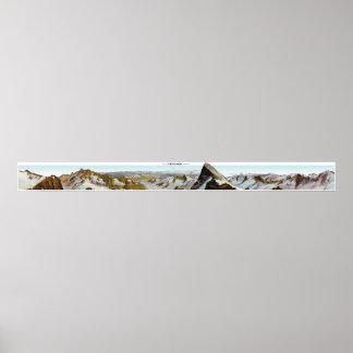 FINSTERAARHORN Swiss Alps Panorama 360° Poster