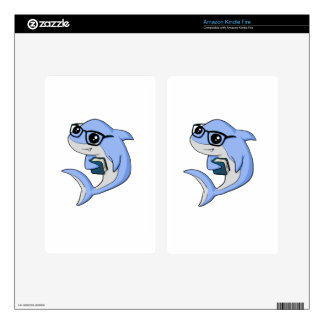 """Fintellectual"" Shark! Decal For Kindle Fire"