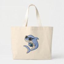 """Fintellectual"" Shark! Large Tote Bag"