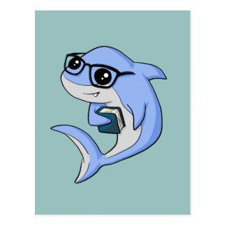 """""""Fintellectual"""" Shark! Postcard"""