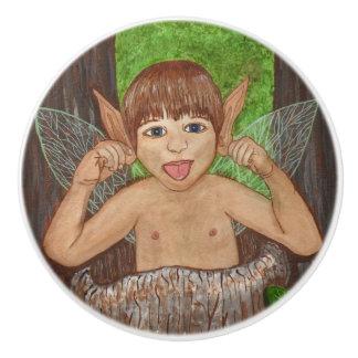 Finwe - Elven Boy Ceramic Knob