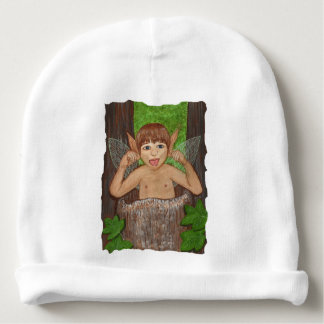 Finwe - Elven Boy sticking tongue out Baby Beanie