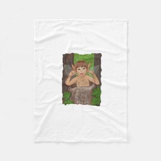 Finwe - Elven Boy sticking tongue out Fleece Blanket