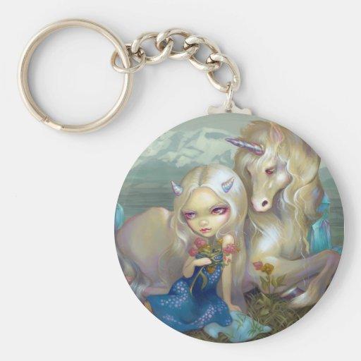 """""""Fiona and the Unicorn"""" Keychain"""