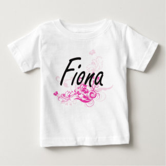 Fiona Artistic Name Design with Flowers T-shirts