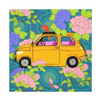 Fiona el coche retro impresión en lienzo estirada