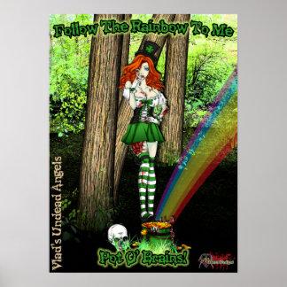 Fiona el poster irlandés del chica de la cerveza d