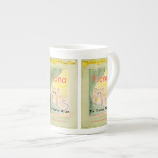 Fiona la porcelana de hueso del ratón del teatro taza de porcelana