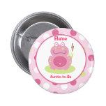 Fiona la rana rosada modificó el botón conocido de pins