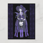 Fiona Purple Gothic Couture Fairy Postcard