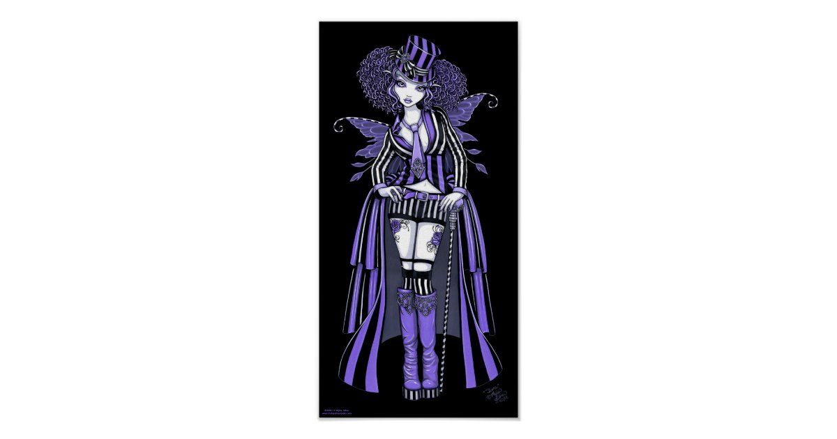Fiona Purple Gothic Steampunk Couture Fairy Poster