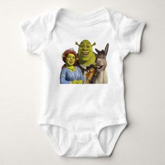 Fiona, Shrek, Puss en botas, y burro Body Para Bebé
