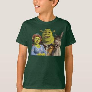 Fiona, Shrek, Puss en botas, y burro Camisas