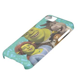 Fiona, Shrek, Puss en botas, y burro Funda Para iPhone 5C