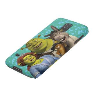 Fiona, Shrek, Puss en botas, y burro Fundas De Galaxy S5