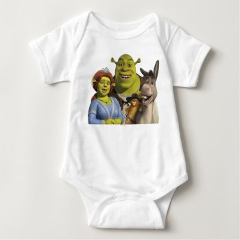 Fiona  Shrek  Puss In Boots  And Donkey Baby Bodysuit by ShrekStore at Zazzle