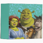 Fiona, Shrek, Puss In Boots, And Donkey Vinyl Binder