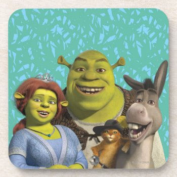 Fiona  Shrek  Puss In Boots  And Donkey Coaster by ShrekStore at Zazzle