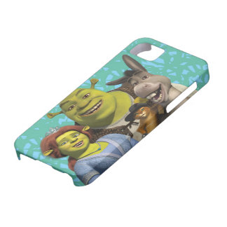 Fiona, Shrek, Puss In Boots, And Donkey iPhone SE/5/5s Case