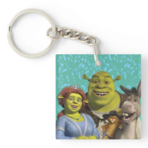 Fiona, Shrek, Puss In Boots, And Donkey Keychain