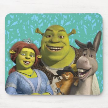 Fiona  Shrek  Puss In Boots  And Donkey Mouse Pad by ShrekStore at Zazzle