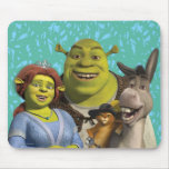 Fiona, Shrek, Puss In Boots, And Donkey Mousepad
