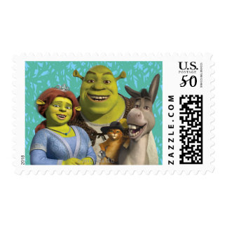 Fiona, Shrek, Puss In Boots, And Donkey Postage