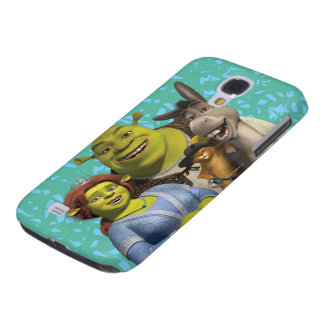 Fiona, Shrek, Puss In Boots, And Donkey Samsung S4 Case