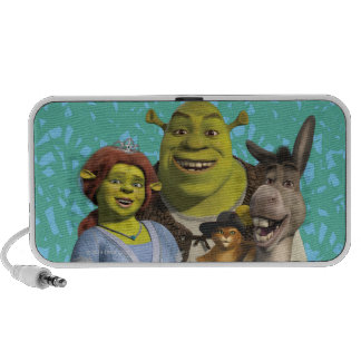 Fiona, Shrek, Puss In Boots, And Donkey iPhone Speakers