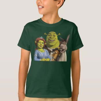 Fiona  Shrek  Puss In Boots  And Donkey T-shirt by ShrekStore at Zazzle