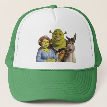 Fiona  Shrek  Puss In Boots  And Donkey Trucker Hat by ShrekStore at Zazzle